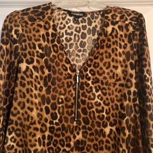 Express Animal Print Silky Top 🐯